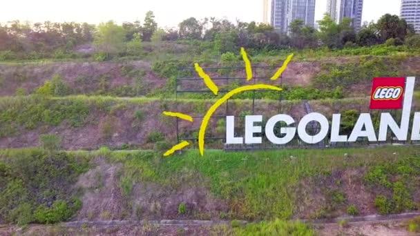 JOHOR, MALAYSIA - 27. prosince 2019: Dronové záběry z Legolandu Theme Park Malajsie