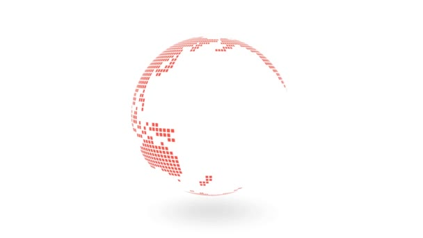 Globe Rotation Rgb Dotted Earth Texture White Background Stock