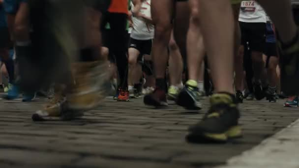 race athletes on the street