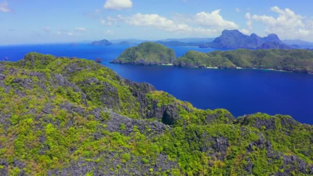 Scenic view of the bay surrounding Matinloc Island at Palawan, Philippines