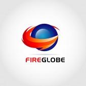 Feuer Globus Logo Symbol