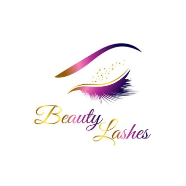 Beauty Cosmetic Eye Lashes Logo Symbol Icon