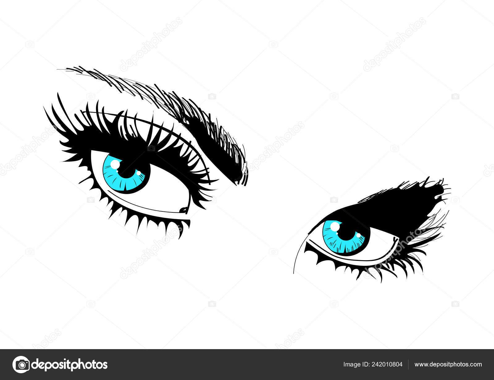 Beautiful Female Blue Eyes Styling Women S Eyes Stock Vector C Egor Efremov 83 Mail Ru 242010804