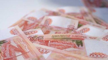 Rouble. Money. Bill 5000. Bill 2000. money. Counting money