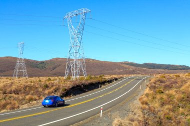 Power pylons beside the