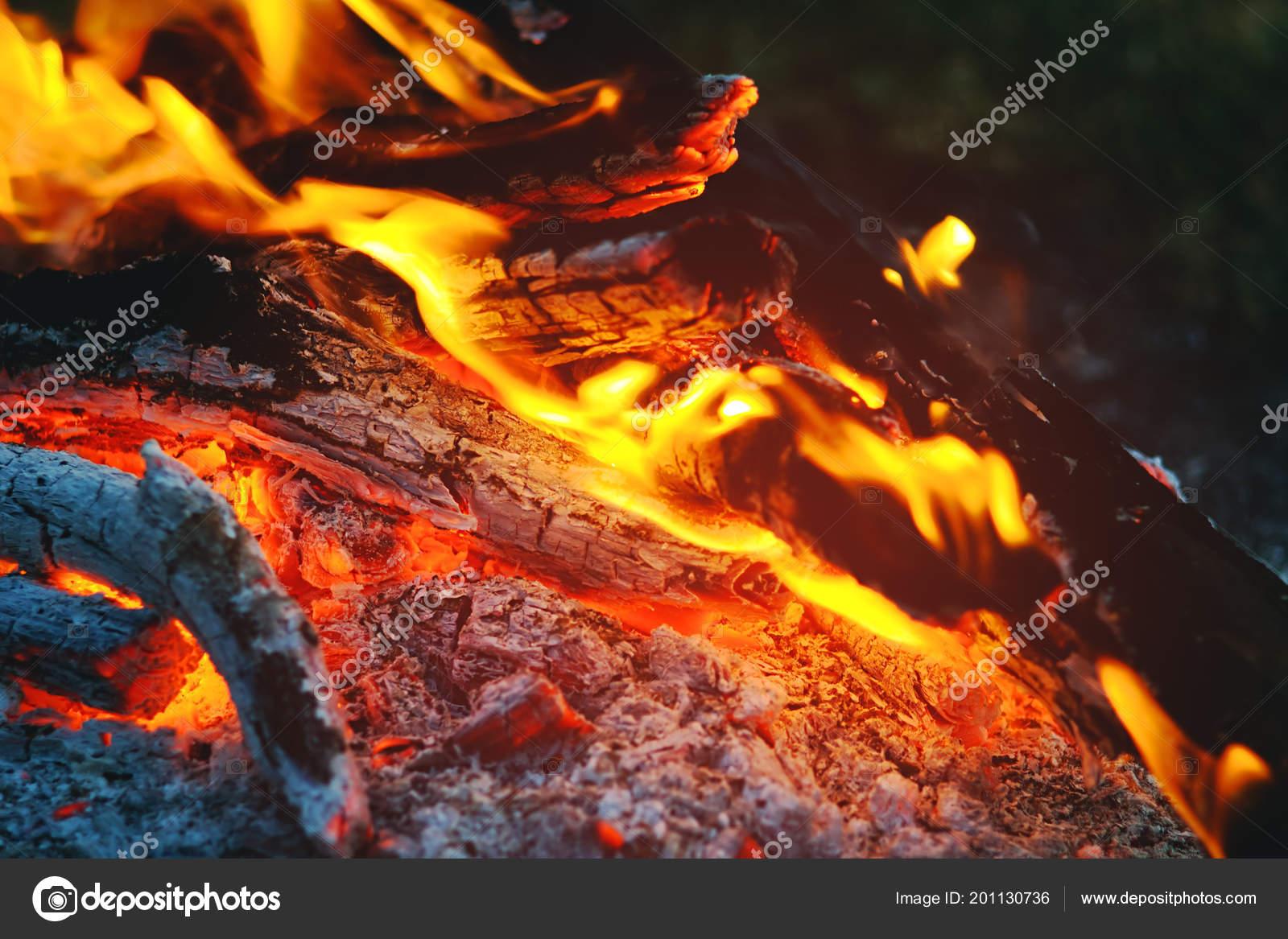 db38cd239ff Φλόγα Της Μια Φωτιά Που Καίει Σκοτεινή Νύχτα Και Αναμμένα ...