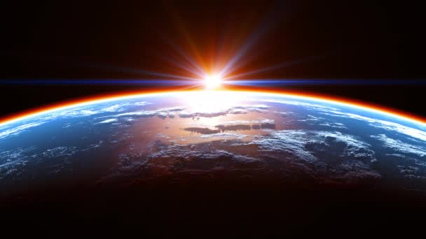 Amazing View Of The Earth From Space And Glowing Atmosphere In The Rays Of The Sun