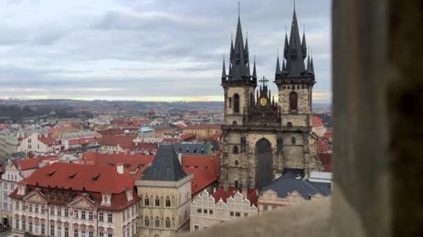 Pražské panorama. Zámecká noc v České republice. Evropa tradiční staré město pro cestovní ruch
