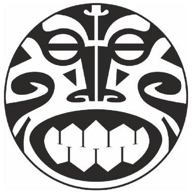 ornamental composition vector polynesia tribes