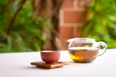 Chinese tea with teapot