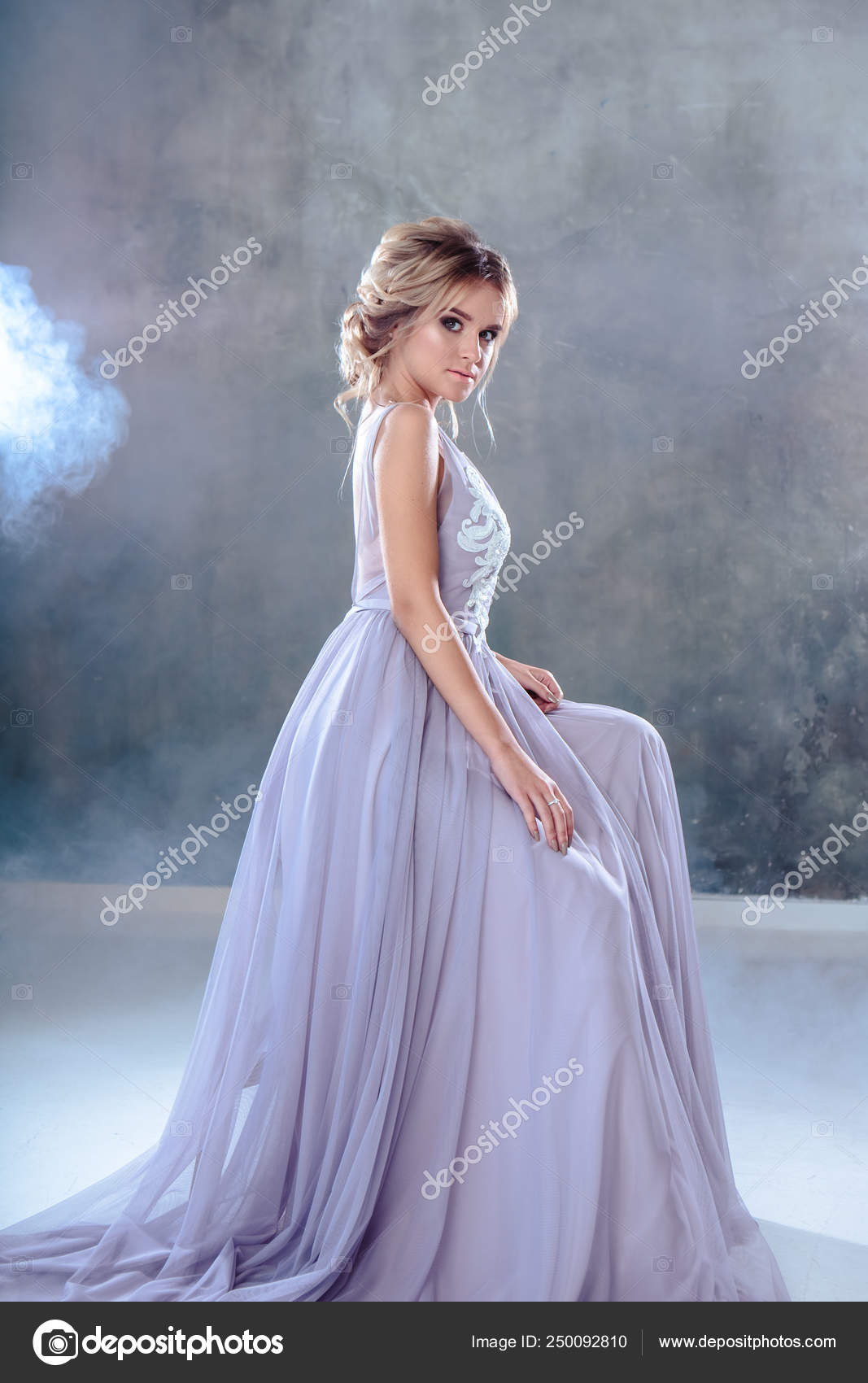 Bride Blonde Woman Modern Color Wedding Dress Elegant Hair Style