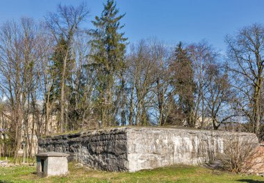 German Nazi bomb shelter built during Second World War in the Rovno, Ukraine.