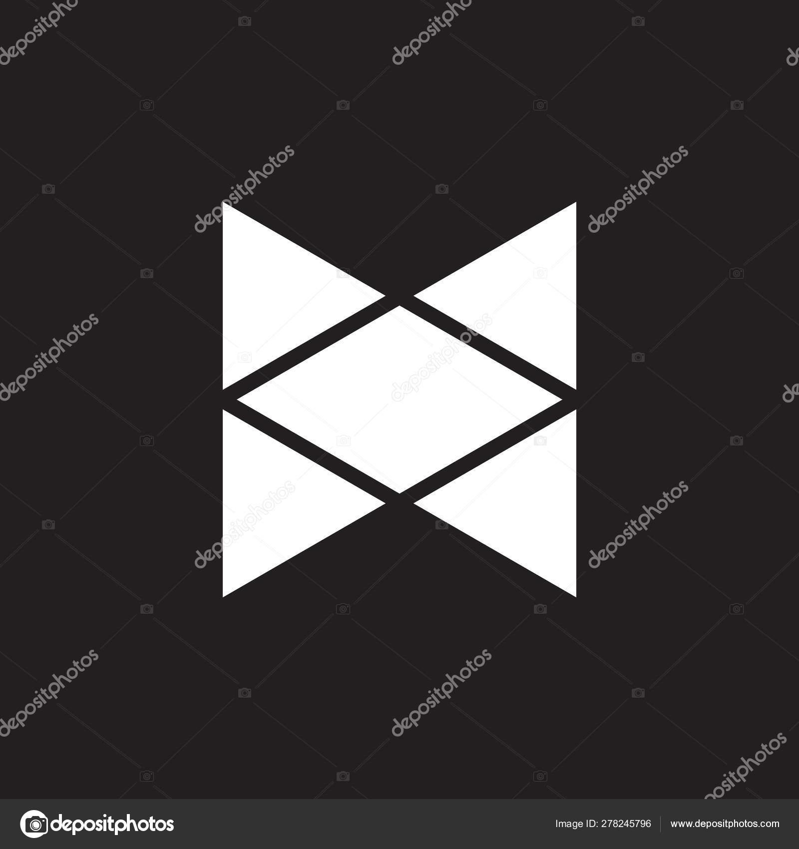 Open box abstract geometric logo vector — Stock Vector