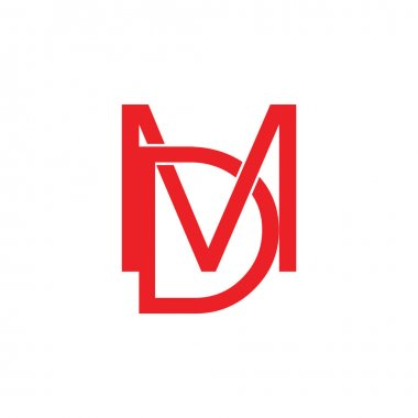 letter md linked logo vector