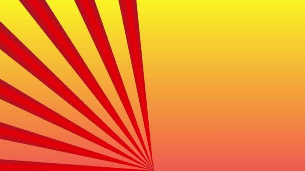 Vörös sugarak özönlenek absztrakt sárga háttér