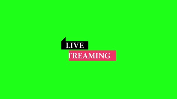 Live streaming. Video on green background