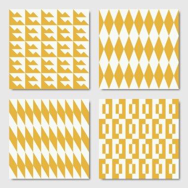 Seamless Geometric Patterns Yellow