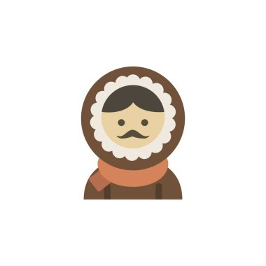 Eskimos color icon. Elements of winter wonderland multi colored icons. Premium quality graphic design icon on white background