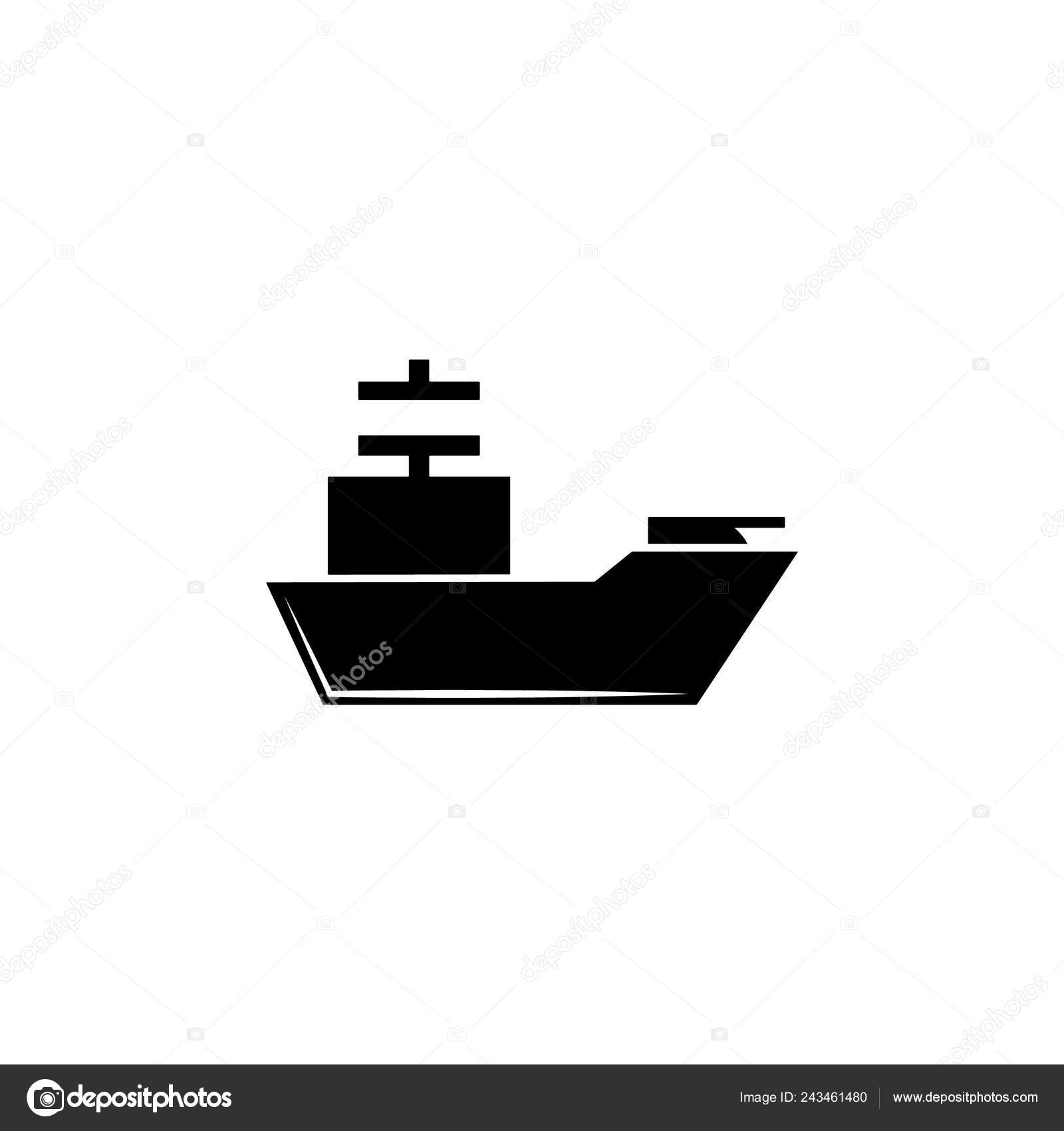 Weapon Cruiser Icon Element Military Illustration Signs