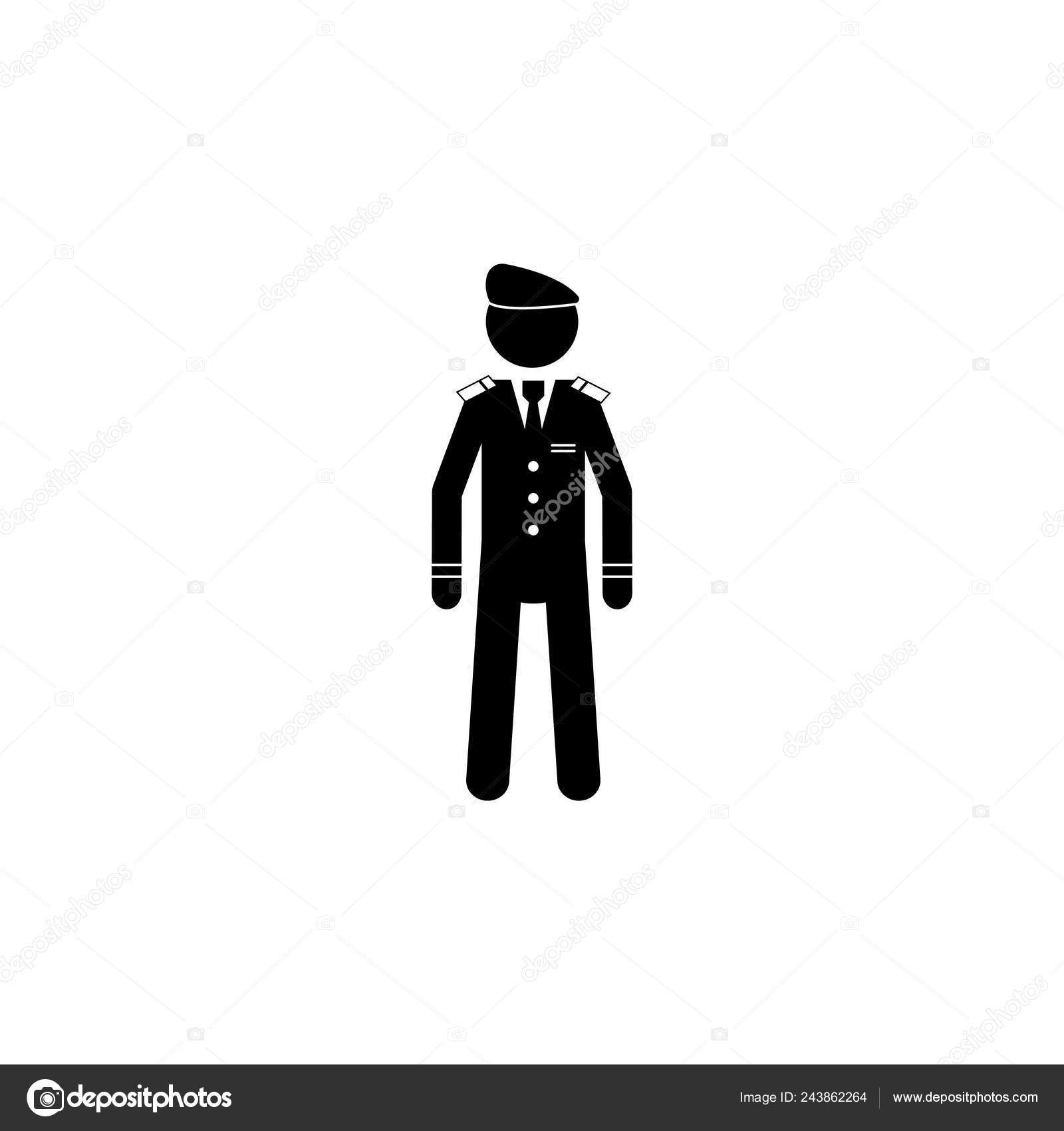 Silhouette Military Beret Icon Special Services Element Icon