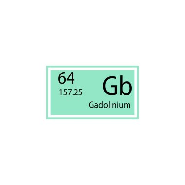 Periodic table element gadolinium icon. Element of chemical sign icon. Premium quality graphic design icon. Signs and symbols collection icon for websites, web design, mobile app on white background