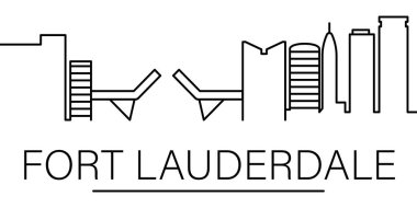 Fort Lauderdale city outline icon. elements of cityscapes illustration line icon. signs, symbols can be used for web, logo, mobile app, UI, UX