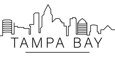 Tampa Bay city outline icon. elements of cityscapes illustration line icon. signs, symbols can be used for web, logo, mobile app, UI, UX