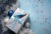 Šťastný Nový rok a Veselé Vánoce Pozdrav a přání s volným místem, prázdné místo pro vaše slova