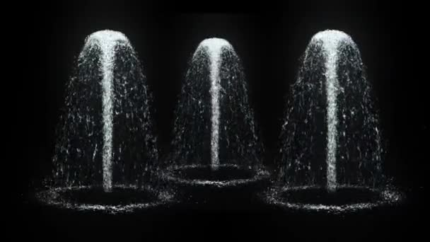 Water 3D Fountain - Video Loop with Alpha Channel