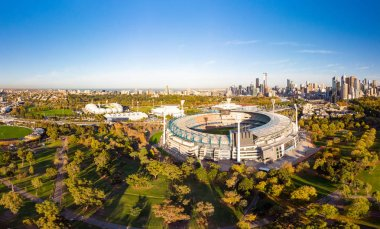 Melbourne Skyline Aerial with MCG