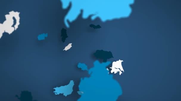 Velká Británie modrá a bílá