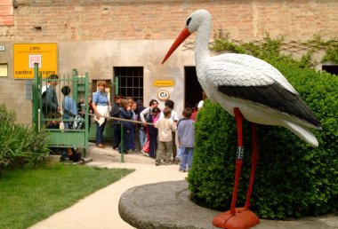 Racconigi, Piedmont/Italy-06/05/2001-The recovery center for storks and migratory birds.