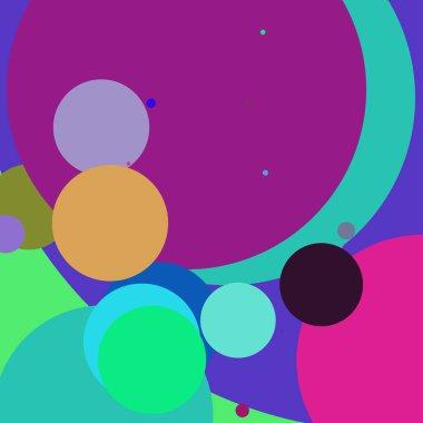 Circle geometric beautiful abstract background multicolored pattern.