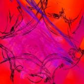 Fotografie Fantasy chaotické barevné fraktální vzor. Abstraktní fraktální obrazce. 3D vykreslování obrázku pozadí nebo Tapeta