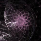 Fotografie Fantasy chaotic colorful fractal pattern. Abstract fractal shapes. 3D rendering illustration background or wallpaper