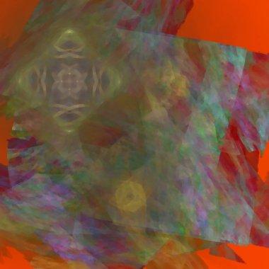 """Картина, постер, плакат, фотообои """"Фантазия хаотических красочные Фрактальный узор. Аннотация фрактальных фигур. 3D визуализация Иллюстрация фон или Обои"""", артикул 309873064"""
