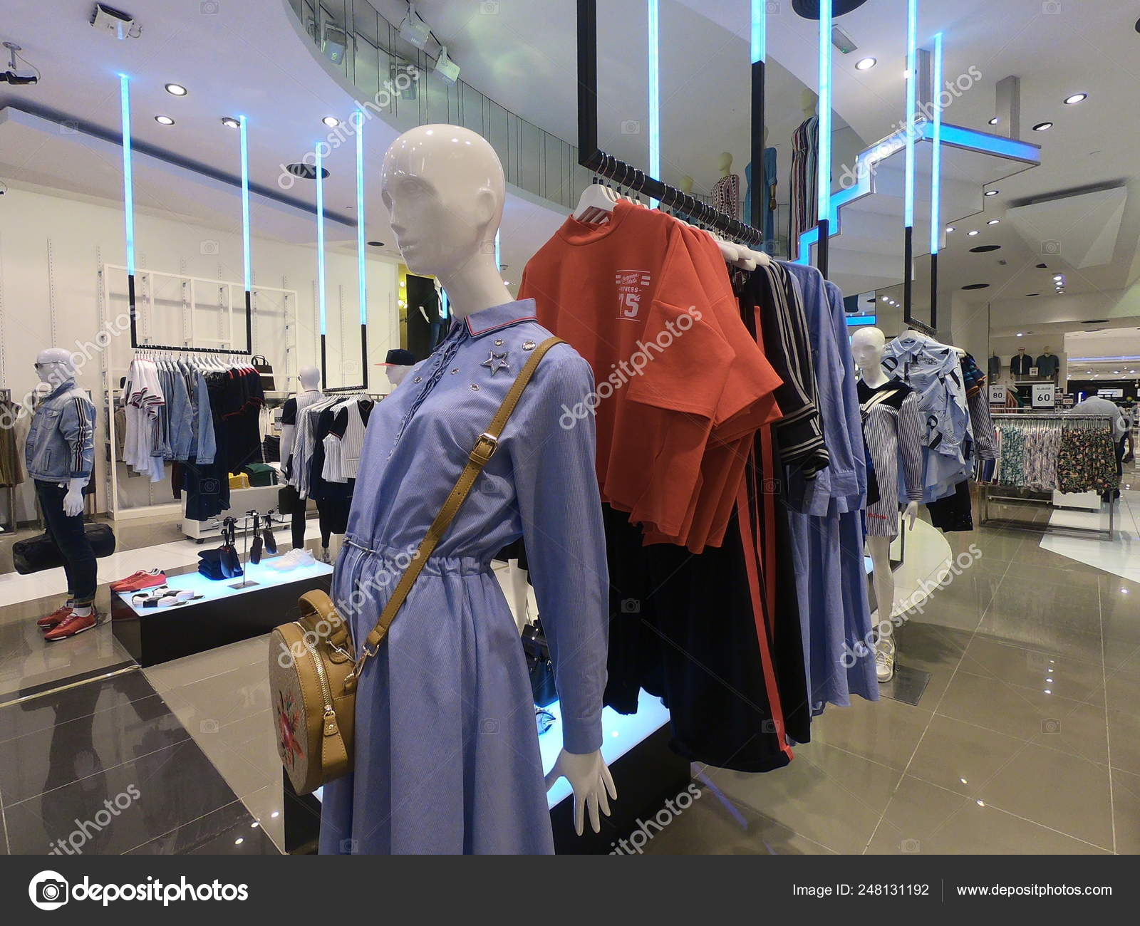 Dubai UAE February 2019 - Women's Dress and Shirts displayed for