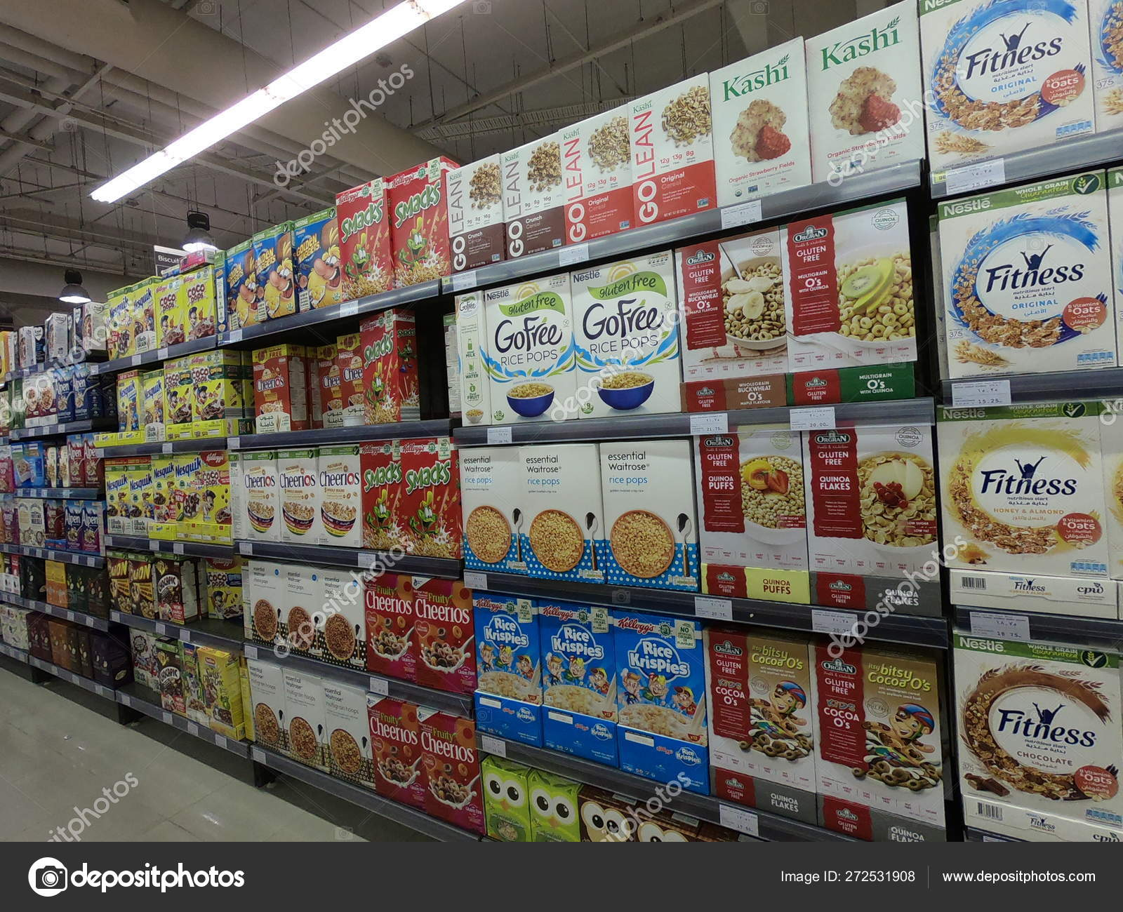 Dubai UAE - May 2019: A variety of packaged breakfast