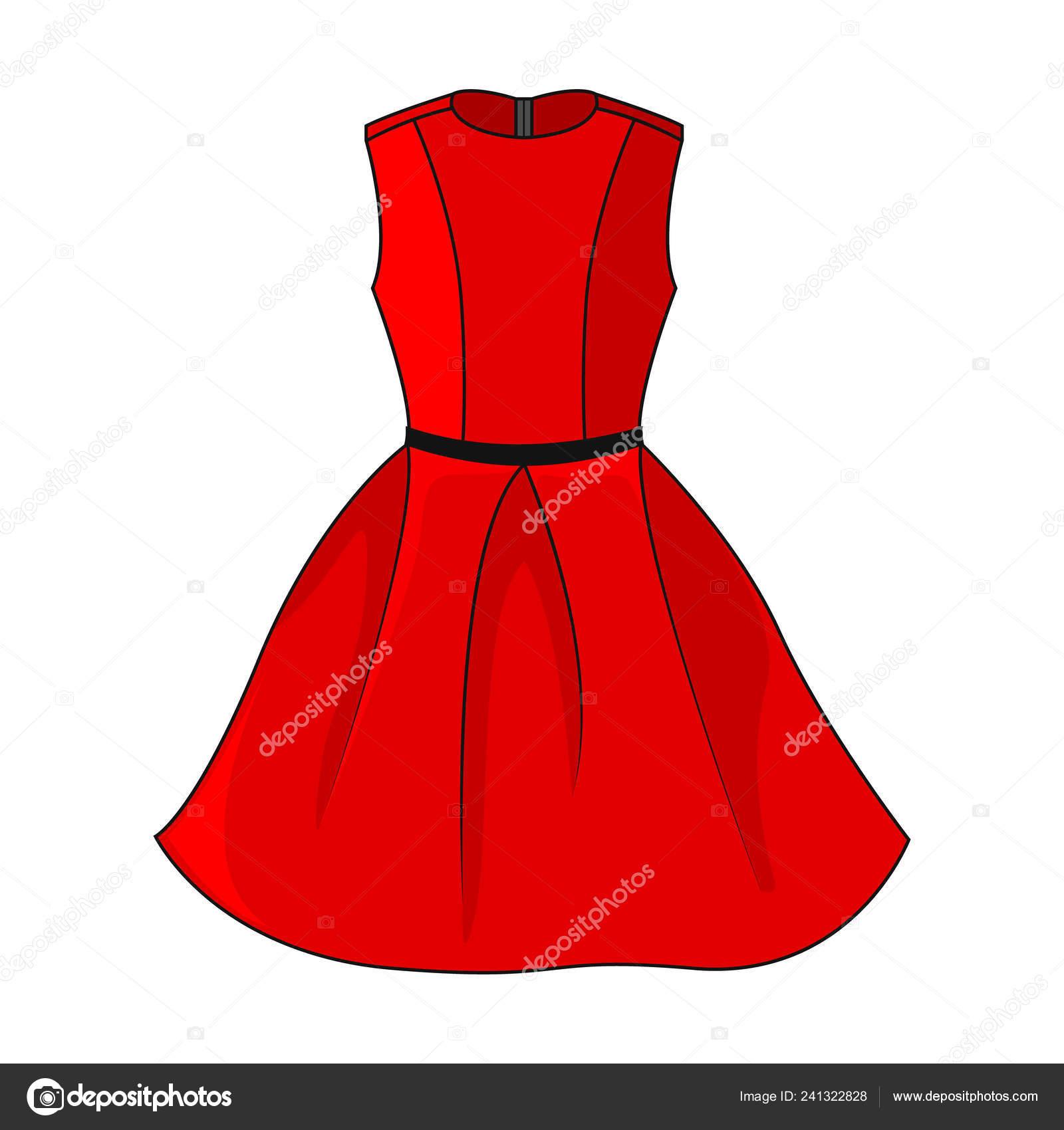 096bf50c8ad5 Elegantní Červené Šaty Ikona Krásné Krátké Červené Šaty Páskem Černá ...