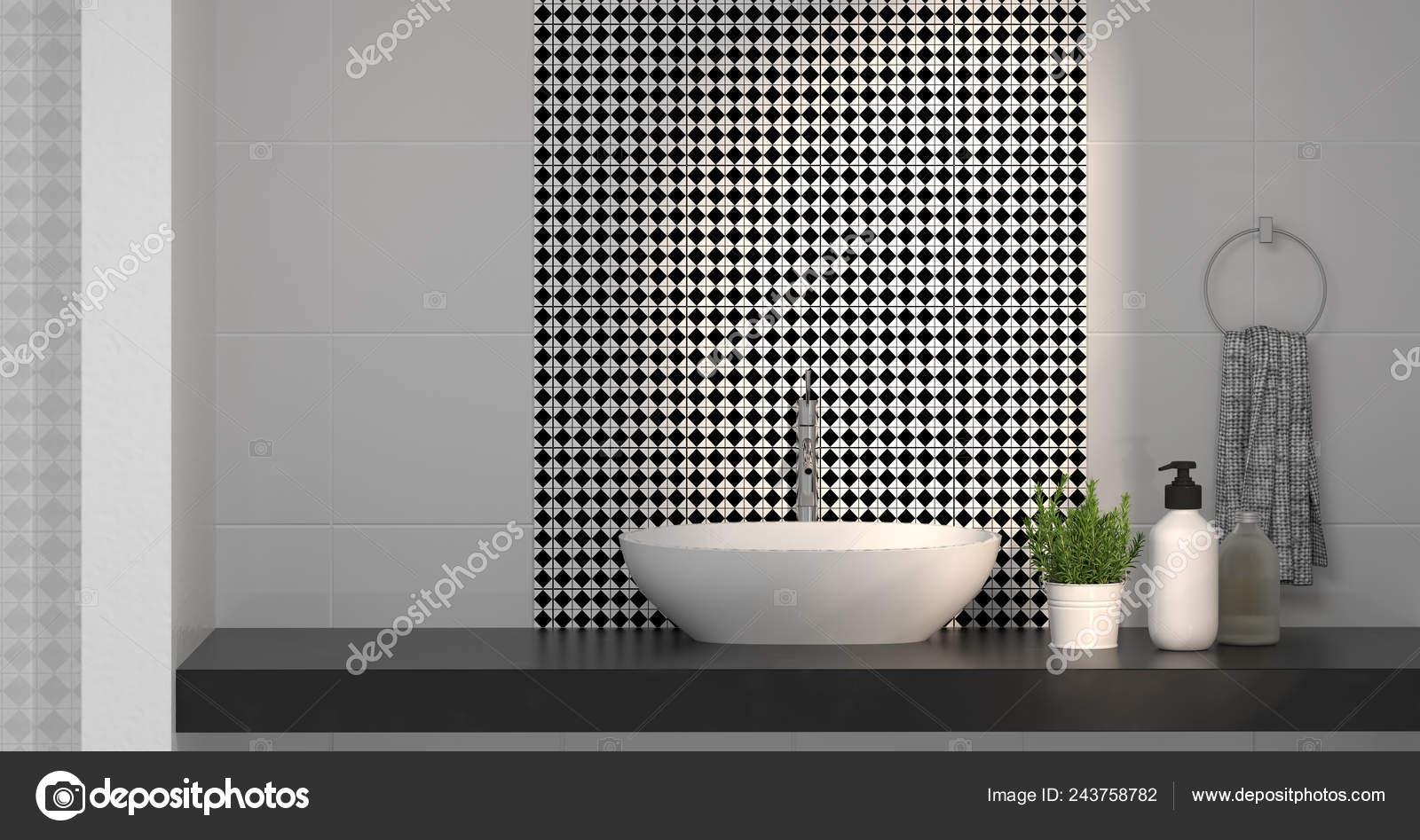 Diseño Interiores Moderno Cuarto Baño Fregadero Ducha Hogar