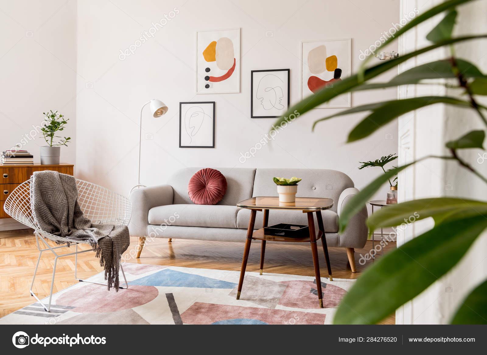 Minimal Retro Interior Design Living, Retro Living Room
