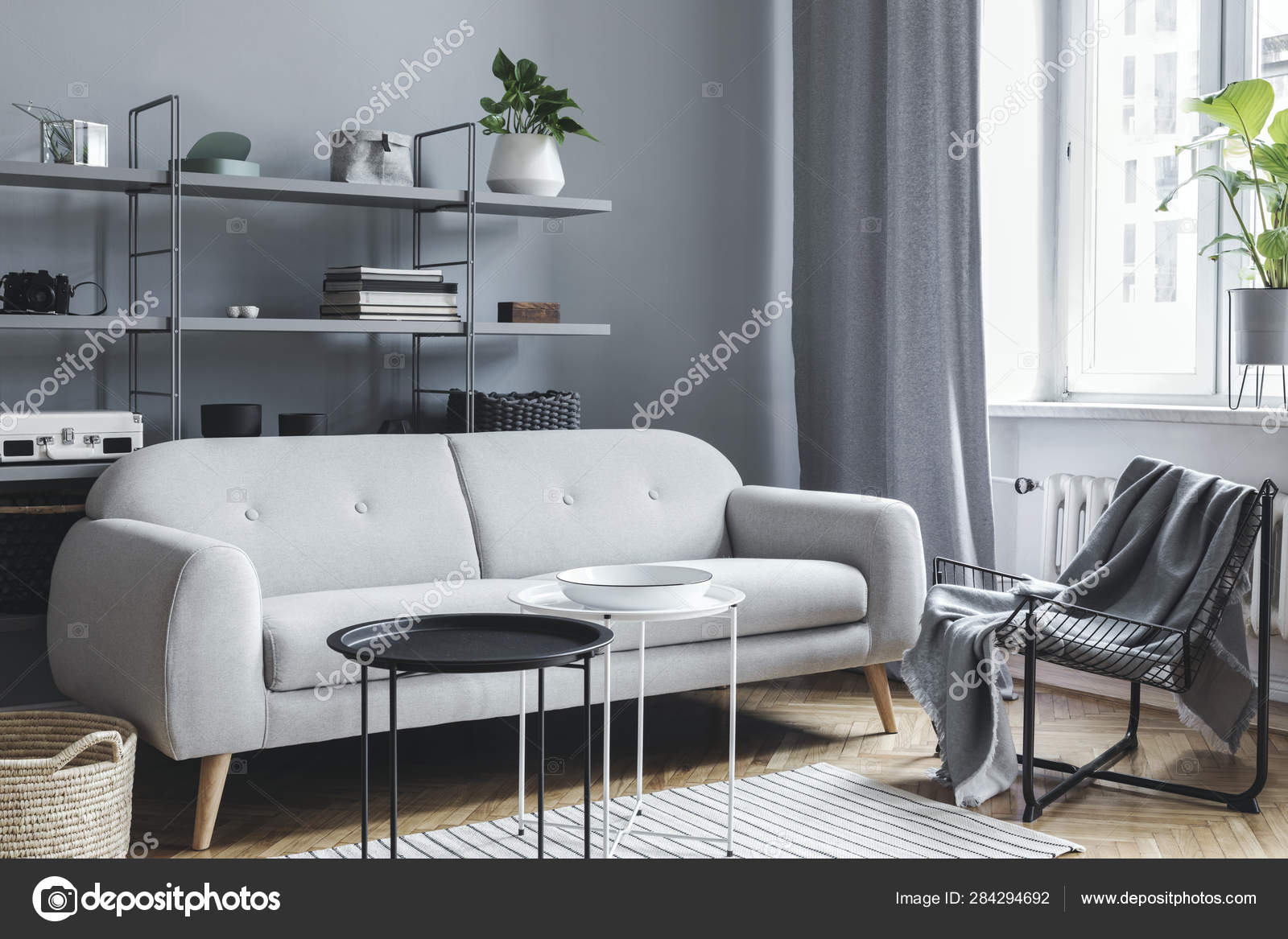 Modern Bright Nordic Living Room Design Sofa Pillow Coffee Table Stock Photo Image By C Followtheflow 284294692