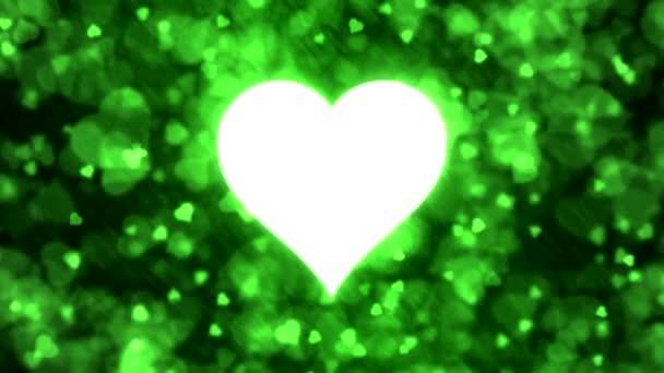 Lüktető szív alakú és háttér-animáció - Loop-zöld