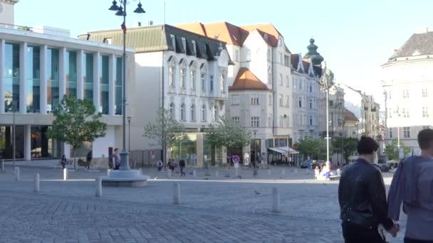 Brno, Cseh Köztársaság - 2018. május 6.: az építészet, a régi város látképe.