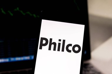 March 29, 2019, Brazil. Philco logo on the mobile device. Philco is a US electronics company