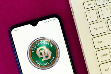 June 23, 2020, Brazil. In this photo illustration the Old Dominion Freight Line logo seen displayed on a smartphone