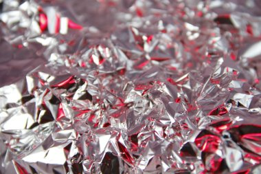 abstraction of crumpled foil