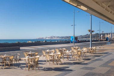 Tables in a cafe at Vina del Mar Promenade - Vina del Mar, Chile