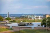 brasilia tv turmbrunnen im burle marx garden park - brasilien, distrito Federal, brasilien