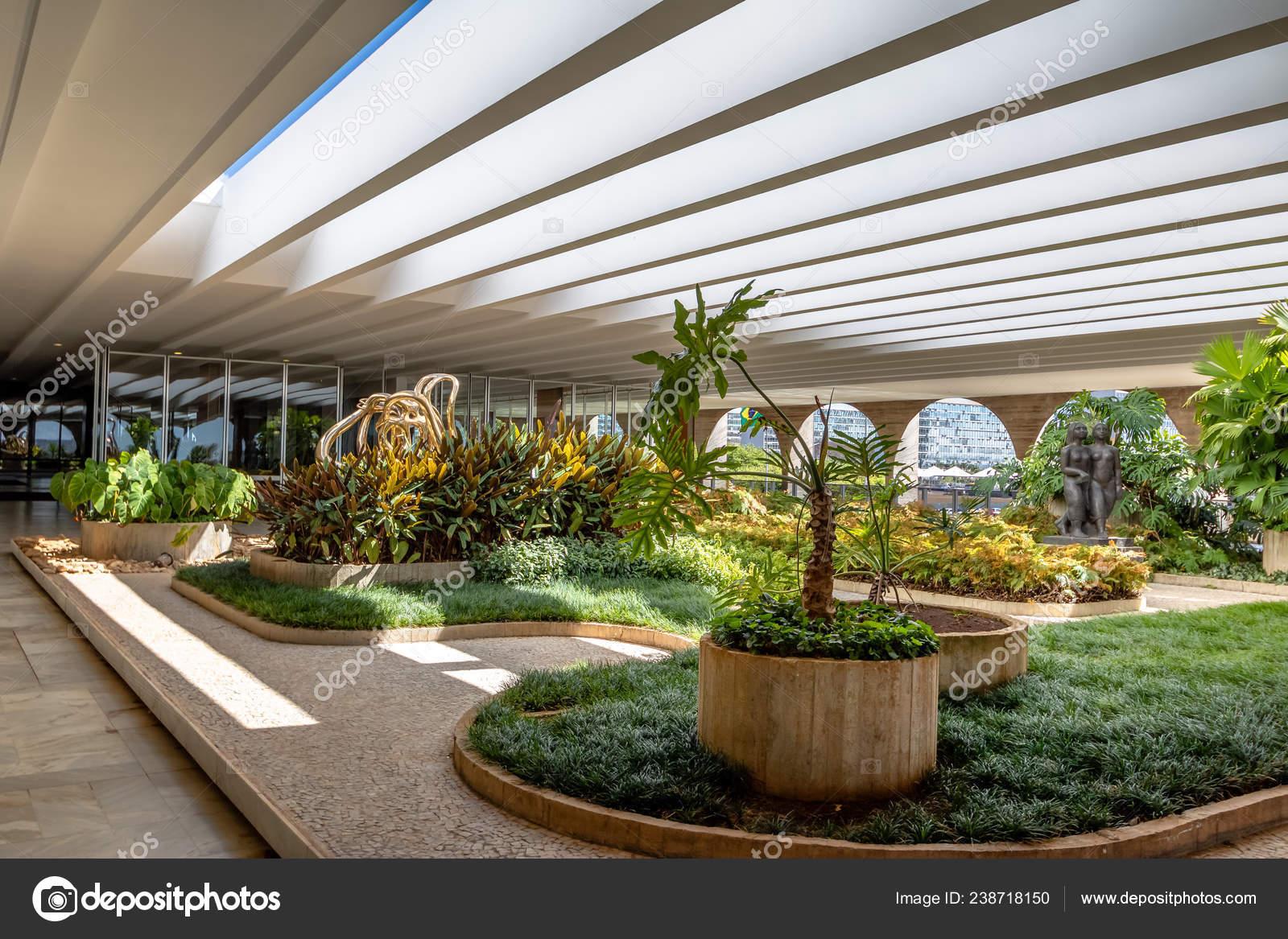 Brasilia Brasil Agosto 2018 Jardines Terraza Del Palacio
